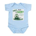 Short, Bald, & Cranky Infant Bodysuit (green)