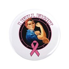 "BreastCancer IWillFight 3.5"" Button (100 pack)"