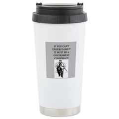 conspiracy theory Stainless Steel Travel Mug