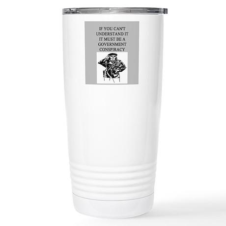 conspiracy theory Stainless Steel Travel Mug
