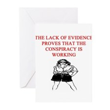 conspiracy theory Greeting Cards (Pk of 20)