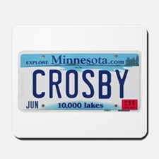 Crosby License Plate Mousepad