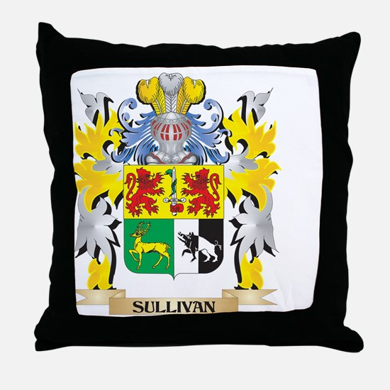 Sullivan Family Crest - Coat of Arms Throw Pillow