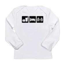 Eat Sleep Race Long Sleeve Infant T-Shirt