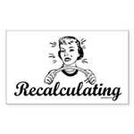 Recalculating Woman Sticker (Rectangle)