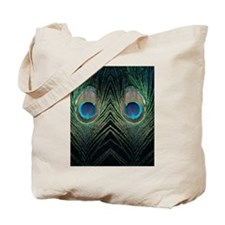 Dark Peacock Feather Tote Bag