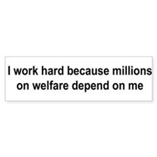 10x3_sticker-workhard Bumper Bumper Sticker