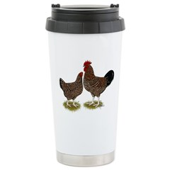 Speckled Sussex Chickens Stainless Steel Travel Mu