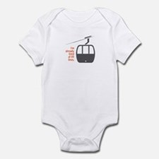 Snowsports Lines - Infant Bodysuit (Orange)