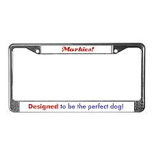 Cute Morkie License Plate Frame