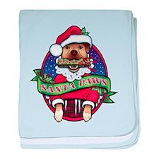 Santa Paws baby blanket