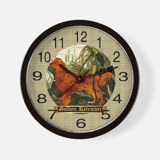 Golden Retriever Sport Gifts Wall Clock