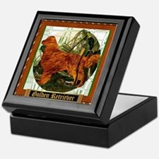 Golden Retriever Sport Gifts Keepsake Box
