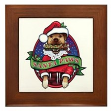 Santa Paws Framed Tile