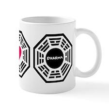 Peace Love Dharma Mug