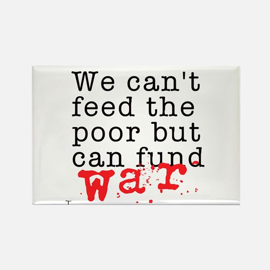 We can't feed the poor but can fund war Rectangle