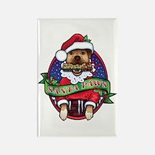 Santa Paws Rectangle Magnet