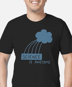 Science is Awesome Men's Fitted T-Shirt (dark)