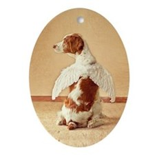 Brittany Angel Ornament (Oval)