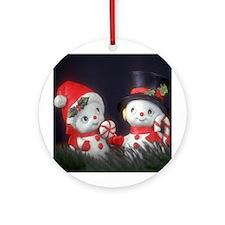 Snowmen Ornament (Round)