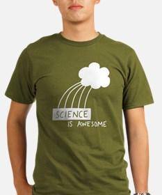 Science is Awesome Organic Men's T-Shirt (dark)