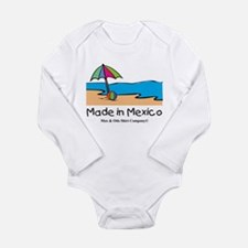 Made in Mexico - beach Long Sleeve Infant Bodysuit