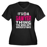 Sawyer Thing Women's Plus Size V-Neck Dark T-Shirt
