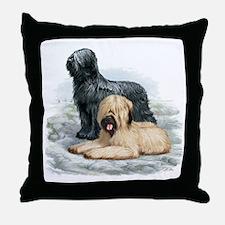 Briard Throw Pillow