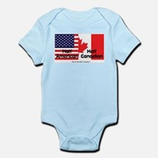Half American-Half Canadian Infant Bodysuit