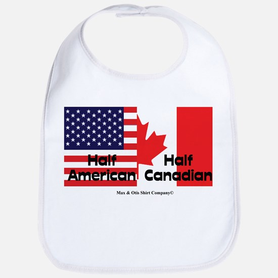 Half American-Half Canadian Bib