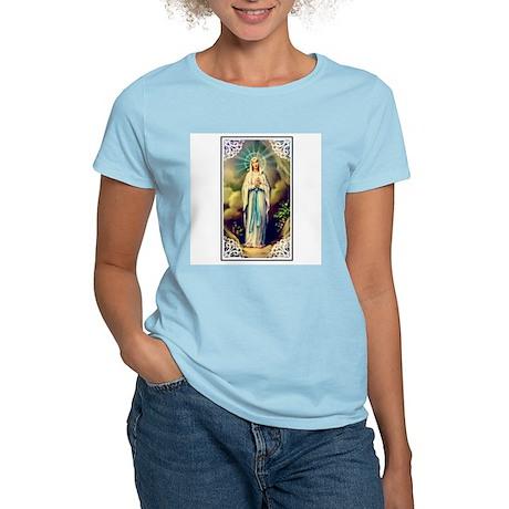 Virgin Mary - Lourdes Women's Pink T-Shirt