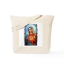 Virgin Mary - Sacred Immaculate Heart Tote Bag