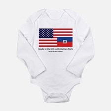 Made in America with Haitian Long Sleeve Infant Bo