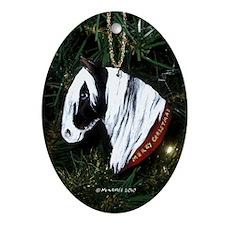 Gypsy Horse Christmas Ornament (Oval)