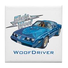 Eagle & The WooF Tile Coaster