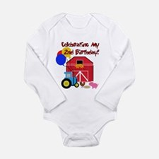 Farm 2nd Birthday Long Sleeve Infant Bodysuit