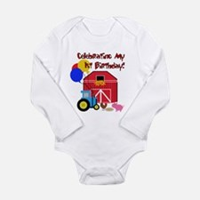 Farm First Birthday Long Sleeve Infant Bodysuit
