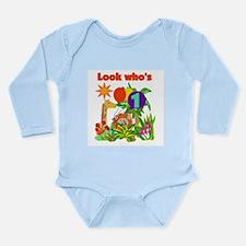 Safari 1st Birthday Long Sleeve Infant Bodysuit