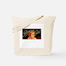 Vintage Pinup Glamour Girl Tote Bag