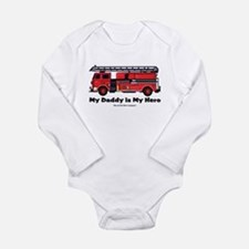 My daddy is my hero Long Sleeve Infant Bodysuit