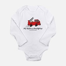 My dad is a firefighter Long Sleeve Infant Bodysui