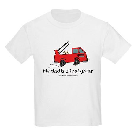 My dad is a firefighter Kids Light T-Shirt