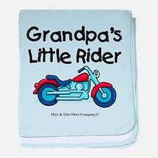 Grandpa's Little Rider baby blanket