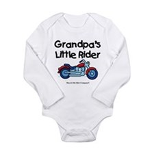 Grandpa's Little Rider Long Sleeve Infant Bodysuit