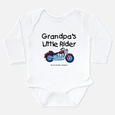 Grandpa's Little Rider Long Sleeve Infant Bodysuit