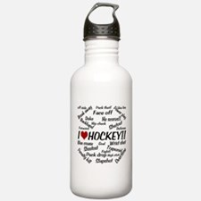 I Love Hockey Water Bottle