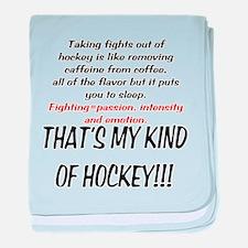 Fighting in Hockey baby blanket