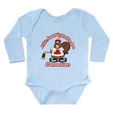Canadian Beaver Long Sleeve Infant Bodysuit
