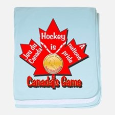 Canada's Game baby blanket