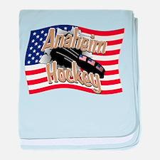 Anaheim Hockey baby blanket